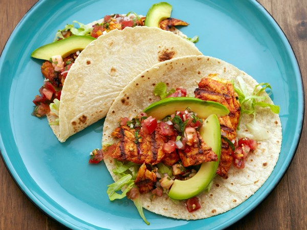50 tasty taco recipes food network canada for Food network fish tacos