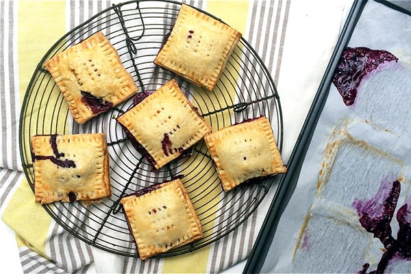 Blueberry Pop Tarts with Lemon Glaze