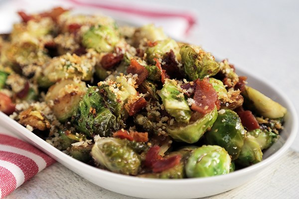 Ultimate Brussels Sprouts with Bacon, Beer, Maple Syrup and Mustard