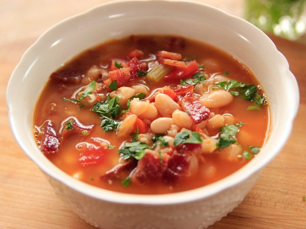 Bacon with Bean Soup
