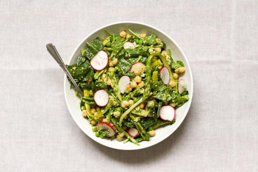 Green Goddess Chickpea Salad