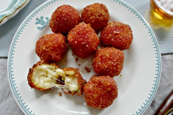 Ketchup Chip Mac and Cheese Balls