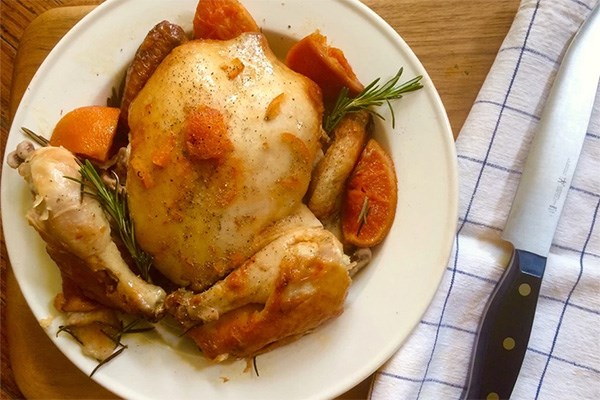 Slow Cooker Rosemary and Citrus Chicken