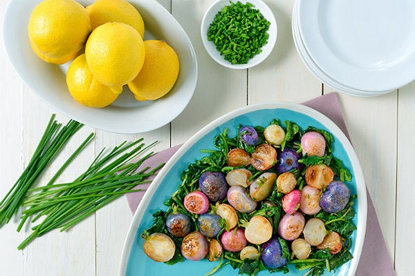 Pan-Roasted Brown Butter Radishes