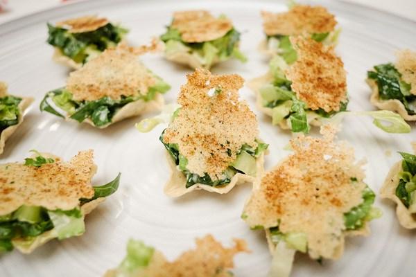Caesar Salad Taco Bites