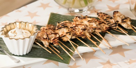 Grilled chicken skewers with lemon and honey recipes food network grilled chicken skewers with lemon and honey forumfinder Image collections