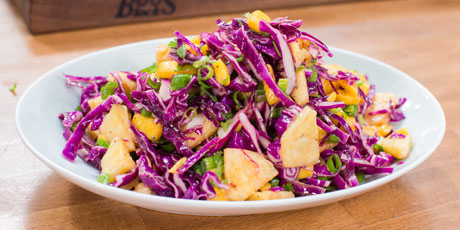 Tropical Slaw with Sweet & Sour Dressing