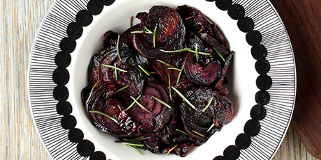 how to make baked beet chips