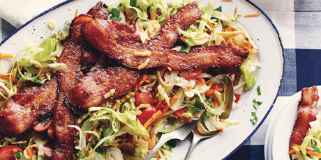 Bacon Salad with Crispy Onions