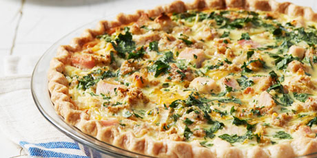 Turkey and stuffing quiche recipes food network canada turkey and stuffing quiche print recipe forumfinder