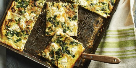 Slab quiche with spinach goat cheese and caramelized onions slab quiche with spinach goat cheese and caramelized onions print recipe forumfinder Images
