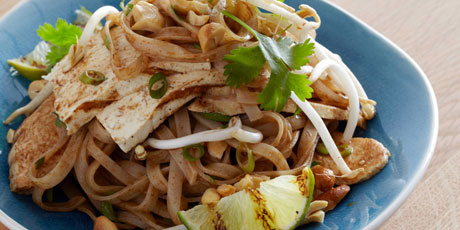 Grilled tofu and chicken pad thai recipes food network canada grilled tofu and chicken pad thai forumfinder Gallery