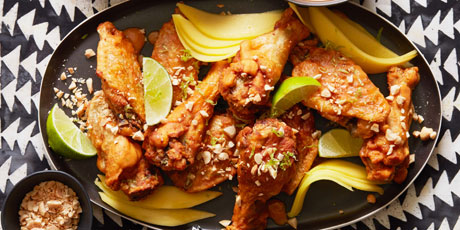 West African Spicy Peanut Chicken Wings Recipes Food Network Canada