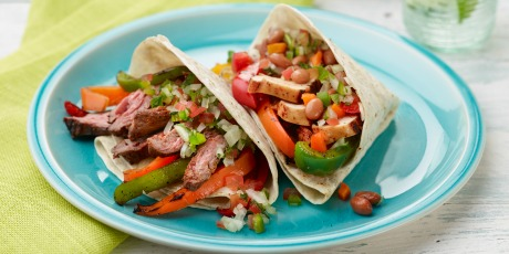 Chicken and beef fajitas recipes food network canada chicken and beef fajitas forumfinder Choice Image