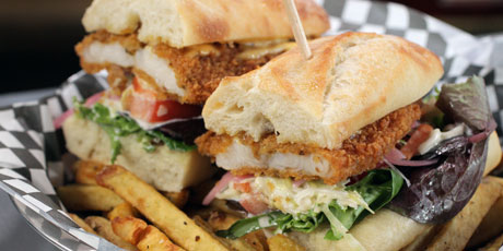 Catfish Po'Boy with Tabasco Mayonnaise