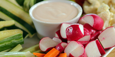 Raw Veggies with Chipotle Ranch Dressing