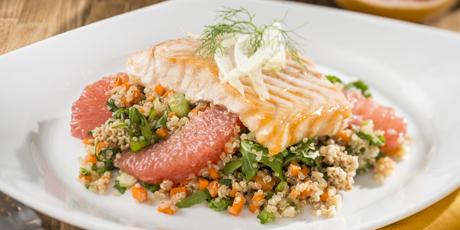 Roast salmon with florida grapefruit and quinoa salad recipes food roast salmon with florida grapefruit and quinoa salad forumfinder Choice Image