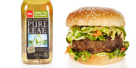 Pure Leaf Pairings Grilled Asian Turkey Burger with Peanut Slaw