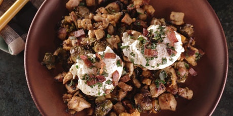 Roast Turkey, Brussel Sprout and Sweet Potato Hash with ...