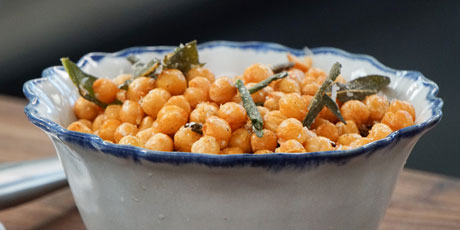 Fried Chickpeas with Sage and Parmesan Recipes | Food Network Canada