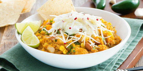 Hearty Vegetarian Chili with Butternut Squash