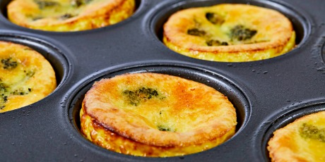 Mini Broccoli and Cheese Quiche