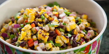 Grilled corn and bean salad recipes food network canada grilled corn and bean salad forumfinder Images