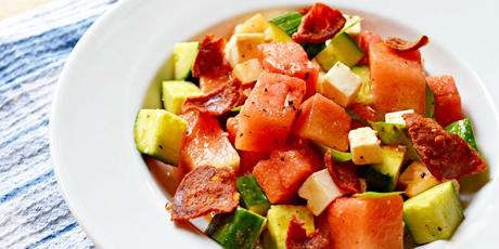 Chopped Vegetable, Watermelon And Feta Salad Recipes — Dishmaps