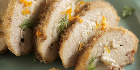 Pecan-Crusted Stuffed Chicken