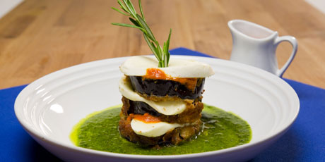 Eggplant parmesan towers recipes food network canada eggplant parmesan towers forumfinder Images