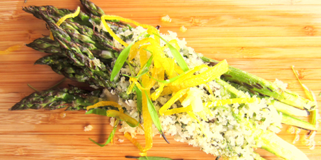 Asparagus With Breadcrumbs And Lemon Zest Recipe — Dishmaps