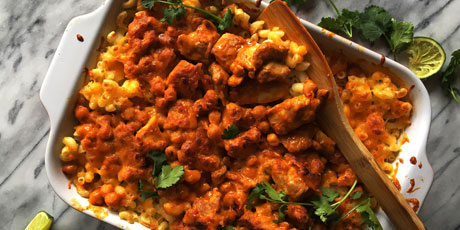 Butter chicken mac and cheese casserole recipes food network canada butter chicken mac and cheese casserole great canadian cookbook recipe forumfinder Gallery