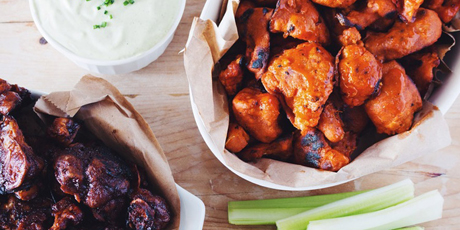 Cauliflower buffalo wings and vegan ranch dip recipes food network cauliflower buffalo wings and vegan ranch dip print recipe forumfinder Choice Image