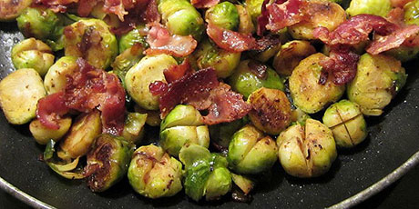 Caramelized Brussels Sprouts and Bacon