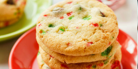 Crushed Candy Cane Chocolate Chip Cookies
