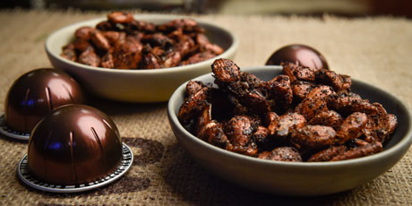 Spicy Coffee Almonds