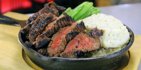 Maple Sirloin with Blue Cheese Mashed Potatoes