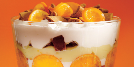 Clementine And Gingerbread Cookie Trifle