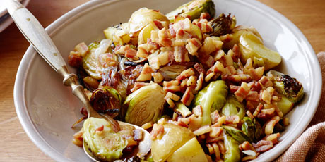 Roasted Brussels Sprouts with Pancetta