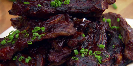 Spice Rubbed Grilled American Bison Short Ribs With Orange Honey Chipotle BBQ Sauce