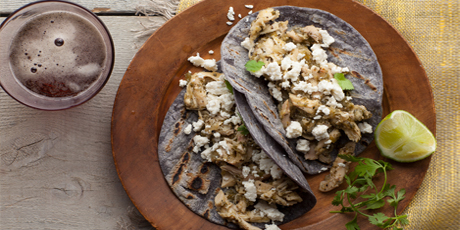 Shredded chicken and tomatillo tacos with queso fresco recipes shredded chicken and tomatillo tacos with queso fresco forumfinder Gallery