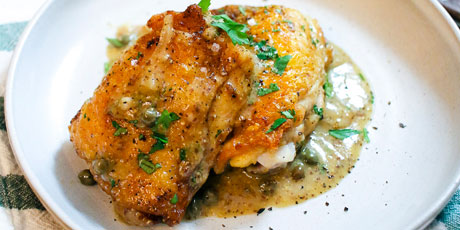 Skillet chicken thighs with luxurious mustard pan sauce recipes skillet chicken thighs with luxurious mustard pan sauce great canadian cookbook recipe forumfinder Images