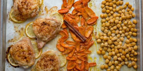 North african chicken and chickpeas sheet pan dinner recipes food north african chicken and chickpeas sheet pan dinner print recipe forumfinder Images