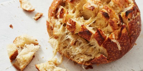 Roasted Garlic And Four Cheese Pull Apart Bread