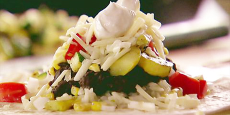 Grilled veggie burritos recipes food network canada grilled veggie burritos forumfinder Images