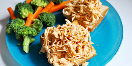 Sriracha chicken salad sandwich recipes food network canada sriracha chicken salad sandwich print recipe forumfinder Choice Image