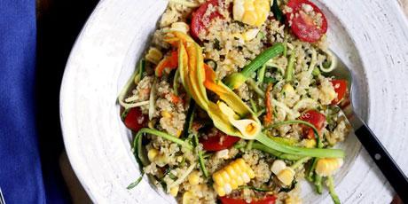 Farmers market quinoa salad with squash blossoms recipes food farmers market quinoa salad with squash blossoms print recipe forumfinder Images