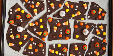 Spooky Eyes Chocolate Bark