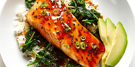 7859dad7f0a8 Salmon Teriyaki Rice Bowls Recipes