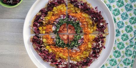 Cauliflower crust rainbow pizza recipes food network canada cauliflower crust rainbow pizza great canadian cookbook recipe forumfinder Gallery